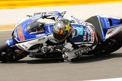 Circuit de MUGELLO - 13 juillet : Jorge Lorenzo d'équipe de Yamaha pendant la session de qualification de MotoGP Grand prix de l' Images stock