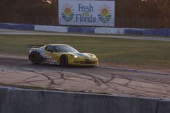 Circuit de voiture de course de Sebring Photo libre de droits