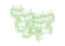 Circuit design - vector. Illustration of green circuit lines background, vector Stock Photos