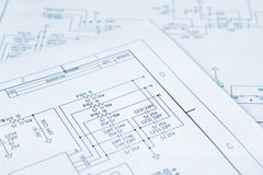 Circuit diagram Stock Image