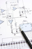 Circuit diagram Stock Photography