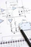 Circuit diagram Stock Photography