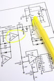 Circuit diagram Royalty Free Stock Images