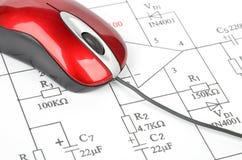 Circuit diagram Royalty Free Stock Photo