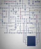 Circuit diagram. Background with an electrical circuit diagram Royalty Free Stock Photography