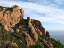 Circuit du pic du cap roux, var, france Royalty Free Stock Photos
