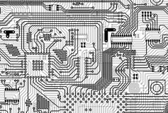 Circuit electronic gray background Royalty Free Stock Images