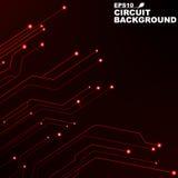 circuit Fond abstrait noir de la technologie numérique Nouvelles technologies dans la conception Réseau informatique Lignes au né illustration stock
