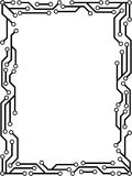 Circuit Frame. Electronic circuit frame design for futuristic backgrounds Royalty Free Stock Photo