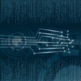 Circuit futuriste de vecteur abstrait illustration libre de droits
