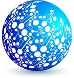 Circuit globe Stock Image
