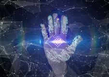 Circuit hand scan Royalty Free Stock Image