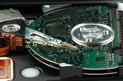 Circuit Harddisk. A Harddisk with a circuit board reflecting Royalty Free Stock Images