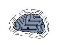 Circuit imprimé de cerveau de Digital Système informatique de cerveaux Technolog illustration de vecteur