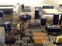 Circuit and integrated circuits Stock Photo