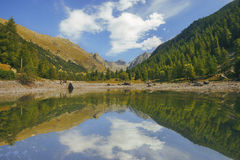 Circuit of the lakes of the estrop, the park of Mercantour, department of the Alpes-Maritimes Stock Images