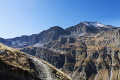 Circuit of the lakes of the mount viso, france Royalty Free Stock Images