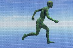Circuit man running Stock Images