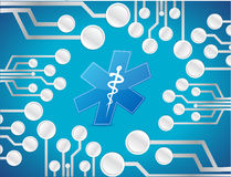 circuit medical board illustration design Royalty Free Stock Photography