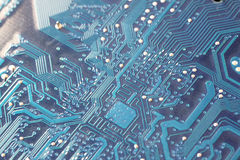 Circuit motherboard computer. Royalty Free Stock Photography