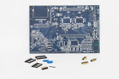 Circuit and Other Components. Integrated Circuit and Other Components - Isolated royalty free stock photos