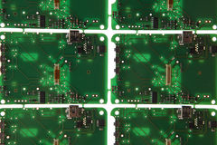 Circuit plate. Printed circuit plate with electronic components on white background royalty free stock images