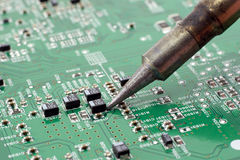 Circuit repair. Royalty Free Stock Photography