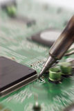 Circuit repair zoomed. Stock Photography