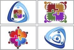 Circuit teamwork logo Royalty Free Stock Images