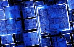 Circuit Technology Bars Stock Image