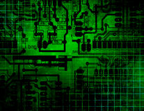 Circuit Technology. Green Circuit Technology Webbing Background Royalty Free Stock Image