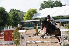 Test Event Giovani Cavalli Scuderie Leon d `Oro Truccazzano 8/10 giugno 2018. Circuit Test Event Young Horses Fise - second seasonal event from 8 to 10 June in Stock Photography