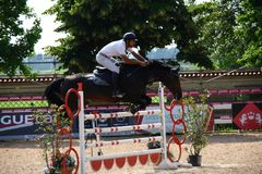 Test Event Giovani Cavalli Scuderie Leon d `Oro Truccazzano 8/10 giugno 2018. Circuit Test Event Young Horses Fise - second seasonal event from 8 to 10 June in Stock Photo