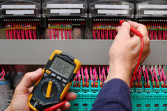 Circuit testing Royalty Free Stock Photo
