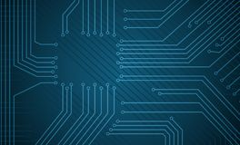 Circuit theme background. Objects in  drawing are grouped for easy editing Stock Photography