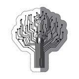 circuit tree icon image Stock Image