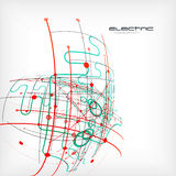 Circuit vector abstract background. This is file of EPS10 format Royalty Free Stock Photo