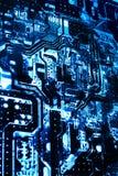 Circuit2 напечатанное рентгеновским снимком Стоковая Фотография RF