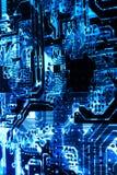 Circuit3 напечатанное рентгеновским снимком Стоковые Фото