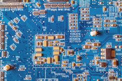 circuitboard with resistors Royalty Free Stock Image