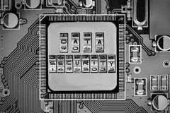 Circuitboard und Chip Concept Stockbild