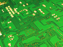 Circuitbord. Close up of a green circuitboard Stock Photo