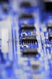 Circuiti blu Immagini Stock