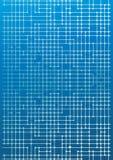 Circuiti elettronici sull'azzurro Fotografia Stock