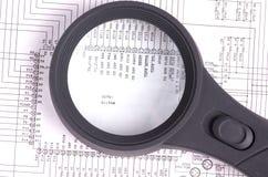 Circuiti per il primo piano di progettazione o del fondo Immagini Stock Libere da Diritti