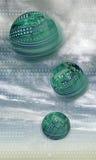 Circuiti sferici Fotografia Stock Libera da Diritti