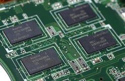 Circuito a alta tecnologia del chip Fotografie Stock Libere da Diritti