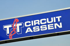 Circuito Assen Sign do TT fotografia de stock royalty free