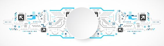 Circuito astratto di tecnologia Concetto di comunicazione illustrazione vettoriale