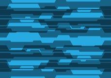Circuito blu astratto di tono con il vettore futuristico moderno del fondo di progettazione in bianco Immagine Stock Libera da Diritti